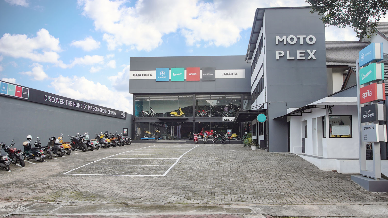 Showcase of motorcycles