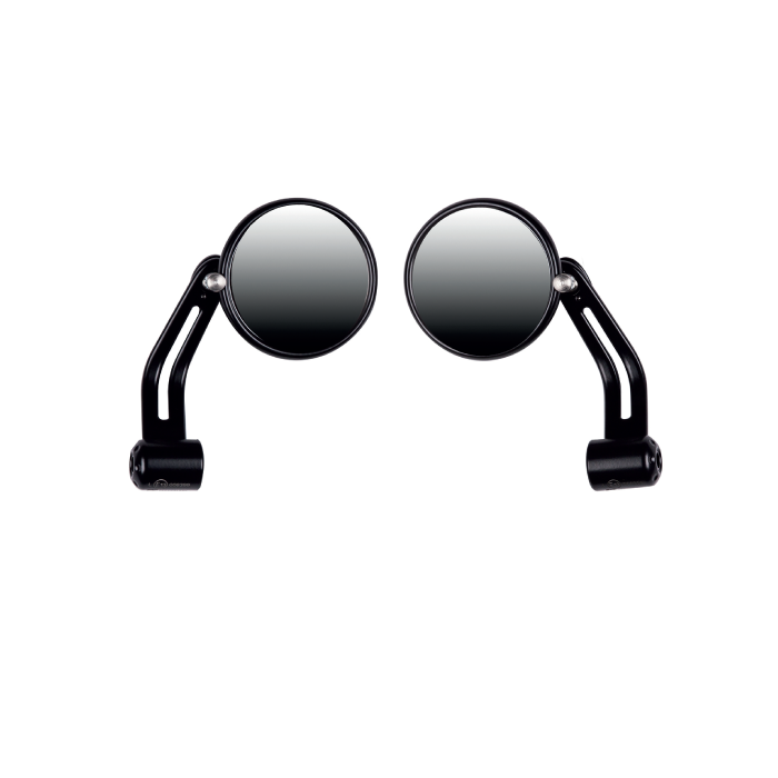 Image of Handlebar Mirrors Black - Anodising