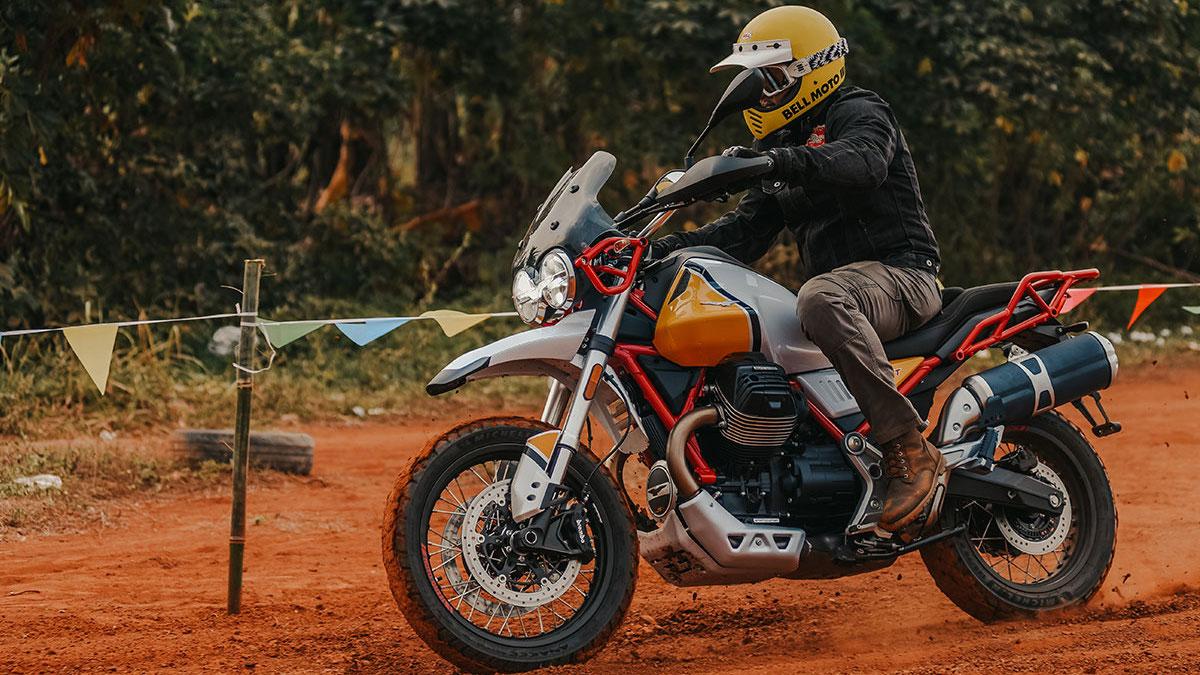 Image of Moto Guzzi V85tt Revved Up Sekepal Aspal Indonesia Motoart Exhibition 2019